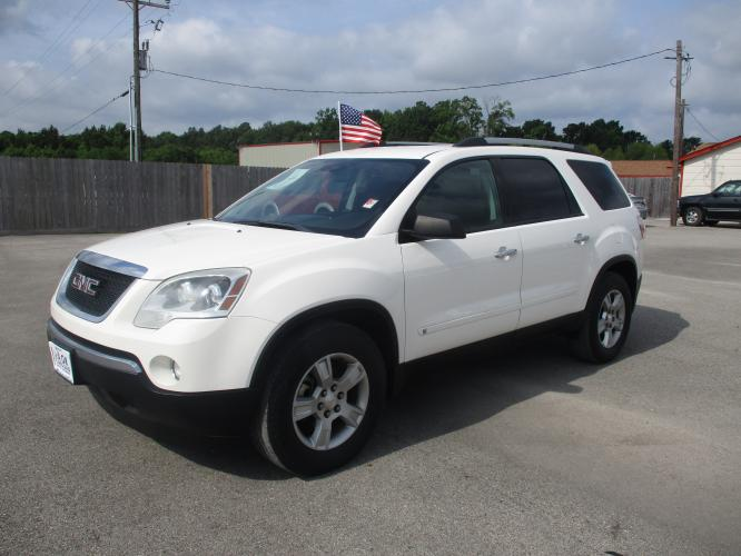 2010 /Black Cloth GMC Acadia SLE AWD (1GKLRLED1AJ) with an 3.6L V6 DOHC 24V engine, 6-Speed Automatic Overdrive transmission, located at 23980 F.M 1314, Porter, TX, 77365, (281) 354-3355, 30.104134, -95.249527 - Photo #0